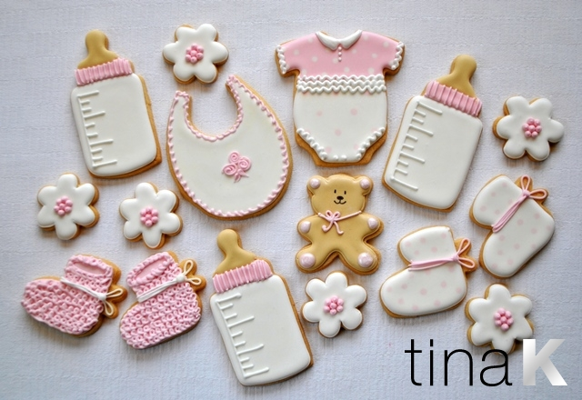 cookies favours, Baby shower invitation